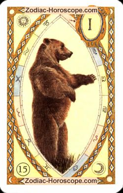 The bear astrological Lenormand Tarot