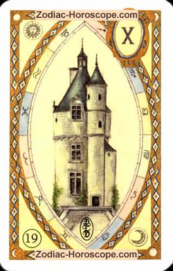 The tower astrological Lenormand Tarot
