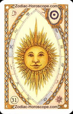 The sun, monthly Love and Health horoscope January Leo