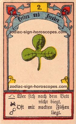 The clover antique Lenormand Tarot