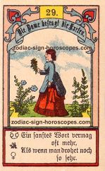 The lady antique Lenormand Tarot